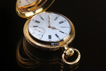 Vintage golden pocket watch