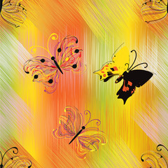 Seamless pattern with abstract butterflies