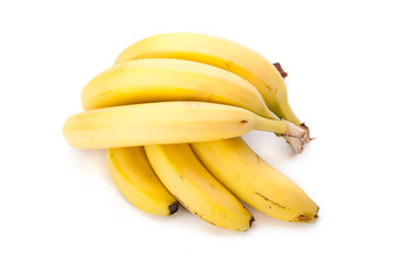 bunch of banana isolated white background
