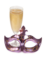 Champagne and mask