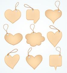 Set of Blank tags. Vector illustration.