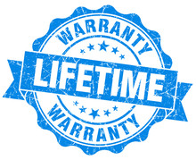 "Постер, картина, фотообои ""lifetime warranty blue grunge seal isolated on white"""