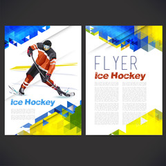 Vector concept of ice hockey player