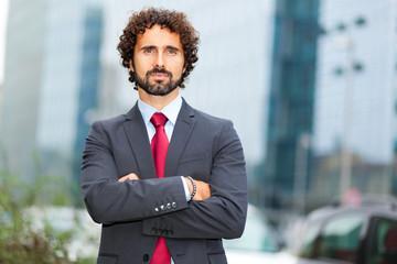 Confident businessman portrait outdoor