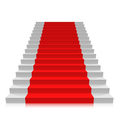 Stair carpet on a white background