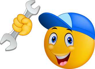 Repairman emoticon smiley