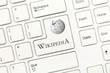 Leinwandbild Motiv White conceptual keyboard - Wikipedia (key with logotype)