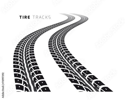 Tire tracks - 76997392