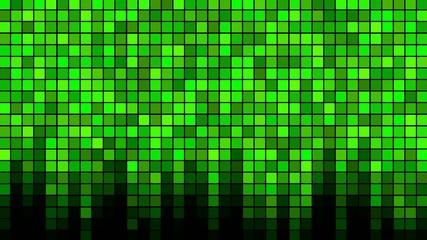 Blinking Tiles Background - Loop Green