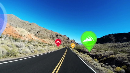 POV HUD Highway Driving Nevada America GPS Satnav Technology Apps CG