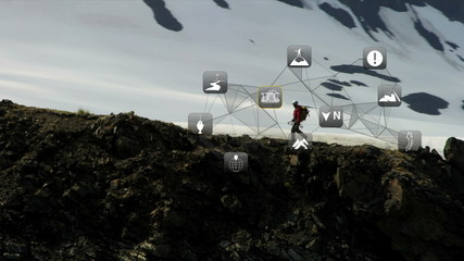 Ridge Walker Rocky Terrain American Male Satnav Data Technology App Style CG