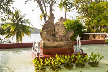 Statue on island of Phuket, Thailand.