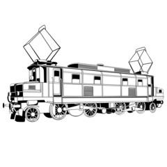 vintage electric locomotive