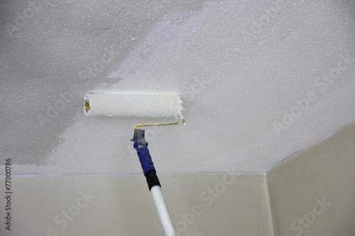 Leinwanddruck Bild Zimmerdecke streichen