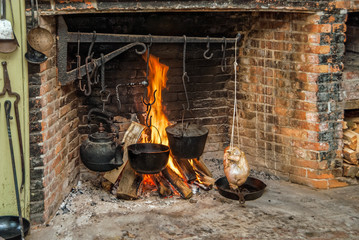Cooking on Open Hearth