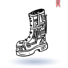 Steampunk boots, hand drawn vector illustration.