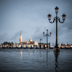 Grand Canal on a cloudy day, Venice.