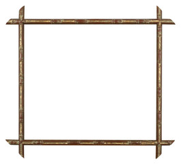 bamboo golden Picture frame