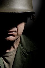 American Soldier In Shadow