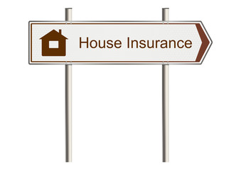 Home insurance sign