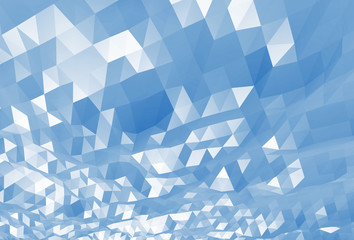 Abstract blue digital 3d low poly surface background