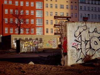 ベルリンのグラフィティと建築