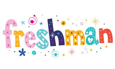freshman text decorative lettering type design