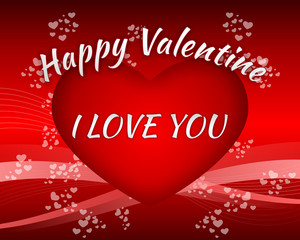 Happy Valentine I Love You Gift Card Background