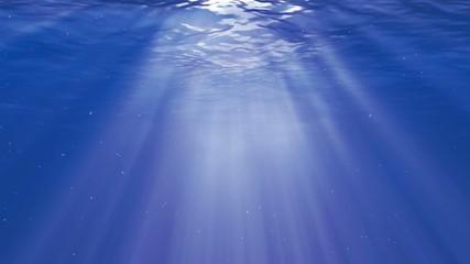 Caribbean light underwater bubbles