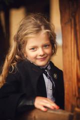 portrait of a cute girl closeup