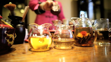 Female mixing blends Chinese Tea Tea House China Asia