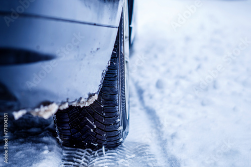 canvas print picture Winter Tyre