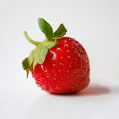 One red strawberry.