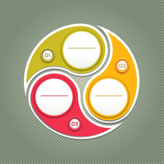 Cyclic diagram with three steps. eps 10