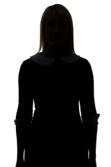 Silhouette of woman in dress