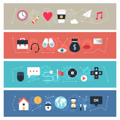 Set of flat design vector banners