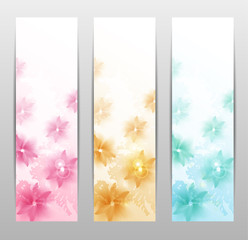 Abstract Flower Vector Background / Brochure Template / Banner.