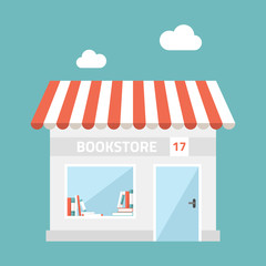 Flat design vector illustration of small business concept