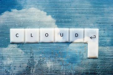 cloud computing condensation keys concept