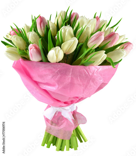 Foto op Canvas Tulp Bouquet of tulips