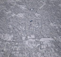 Cartina centro Milano 3d palazzi