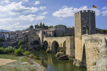 Fortified stone bridge, Besalú, Spain