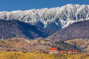 Piatra Craiului mountains scenery , Romania