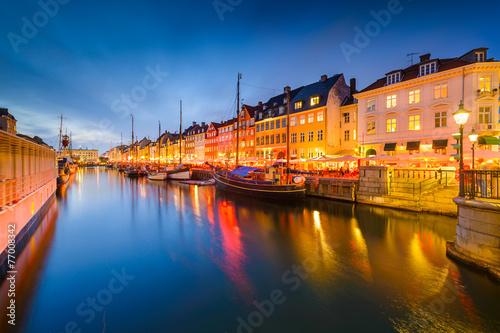 Poster Nyhavn Canal of Copenhagen, Denmark