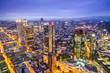 Frankfurt, Germany downtown financial district skyline.
