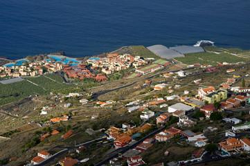 Landscape of the island La Plama from Volcano San Antonio, Fuenc