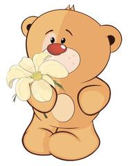 A stuffed toy bear cub cartoon
