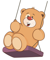 A stuffed toy bear cub cartoon