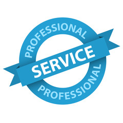 """PROFESSIONAL SERVICE"" Badge (stamp label guarantee quality)"