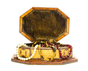 Box with beads